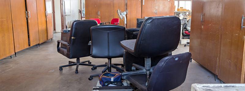 Broken office chairs