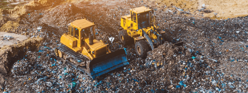 landfill bulldozers