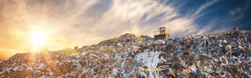 landfill at dawn